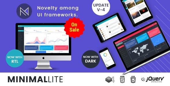Minimal Lite - Responsive Bootstrap 4 Admin, Dashboard & WebApp Templates