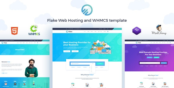 Flake Web Hosting and WHMCS Technology Template - Hosting Technology