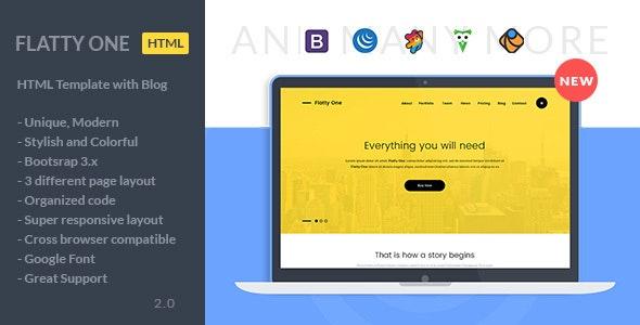 FlattyOne - One Page Portfolio HTML Template - Portfolio Creative