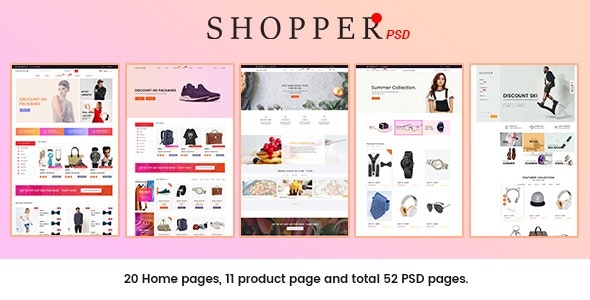 SHOPPER - Multipurpose eCommerce PSD Template - Shopping Retail