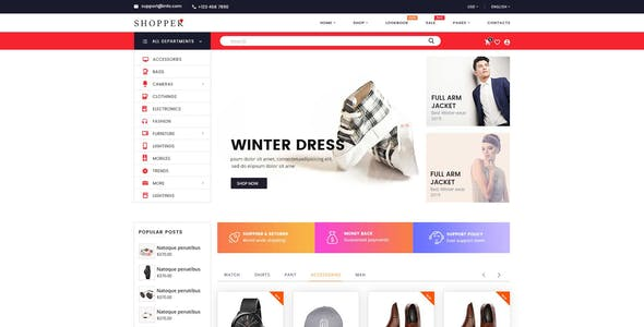 SHOPPER - Multipurpose eCommerce PSD Template