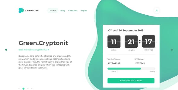 Cryptonit - Digital Currency, ICO, Cryptocurrency Blog and Magazine, Finance Sketch Template