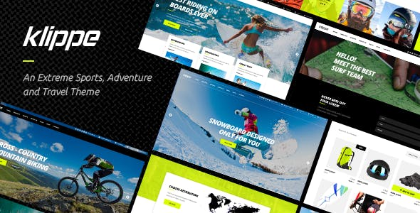 Klippe - Adventure Tours and Extreme Sports Theme
