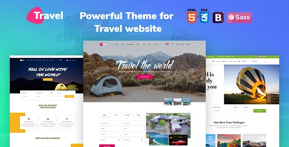 Travel - Tour Agency Booking HTML 5 Template. - Travel Retail