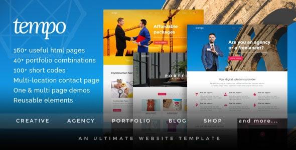 Tempo - Multipurpose Responsive Bootstrap Website Template - Corporate Site Templates
