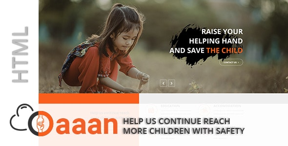 Prodan - Charity and Fundraising HTML5 Template - Charity Nonprofit