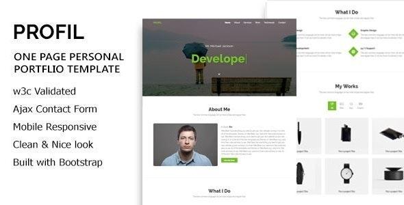 PROFIL - Personal Portfolio HTML5 Template - Portfolio Creative