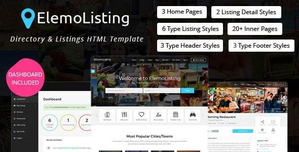 ElemoListing - Directory & Listings HTML Template - Business Corporate