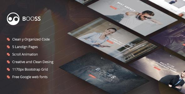Booss | Creative Multipurpose Marketing Landing Page - Landing Pages Marketing