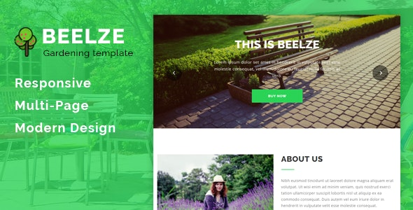 Beelze - Responsive Gardening and Landscaping HTML Template - Business Corporate