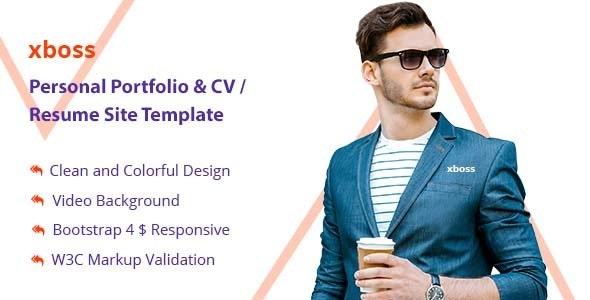xboss Personal Portfolio & CV / Resume Site Template - Portfolio Creative