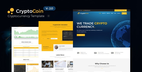 CryptoCoin - Crypto Currency HTML Template - Business Corporate