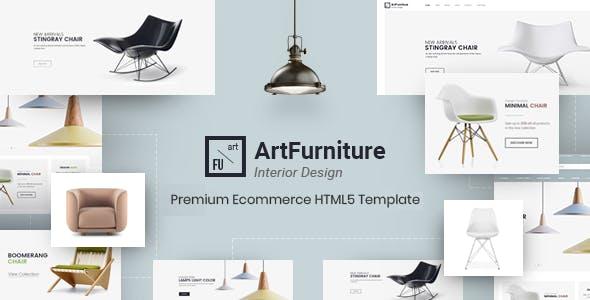 ArtFurniture - Minimal Furniture Shop eCommerce HTML Template