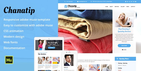 Chanatip - Responsive Dry Cleaning & Laundry Service - Corporate Muse Templates