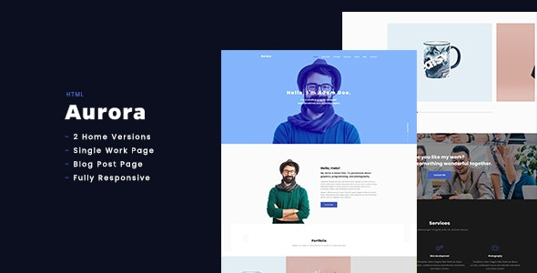 Aurora - Personal Portfolio HTML - Portfolio Creative
