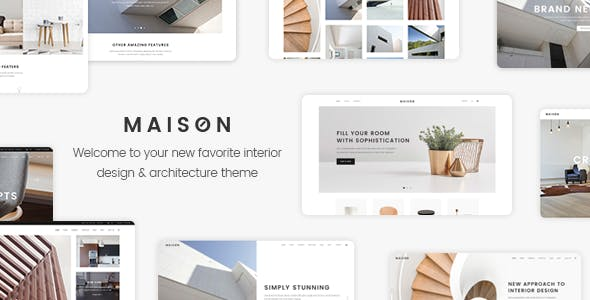 Maison - Modern Theme for Interior Designers and Architects by Edge ...