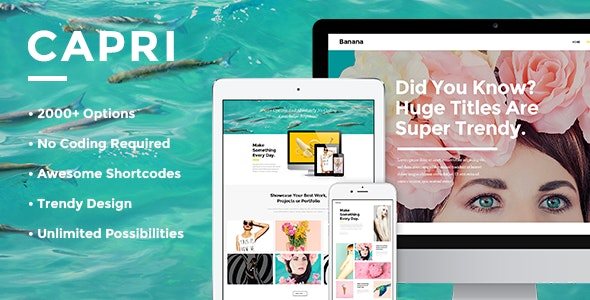Capri - Creative Portfolio Theme - Creative WordPress