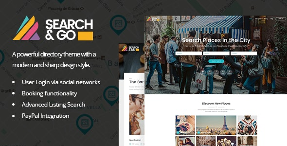 Search & Go - Directory WordPress Theme - Directory & Listings Corporate