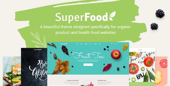 Superfood - Organic Food Products Theme - Food Retail