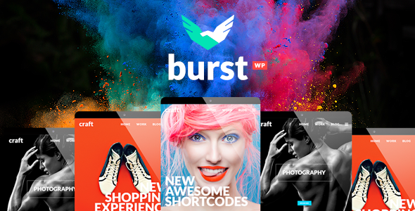 Burst - Bold and Vibrant Design Agency Theme - Creative WordPress