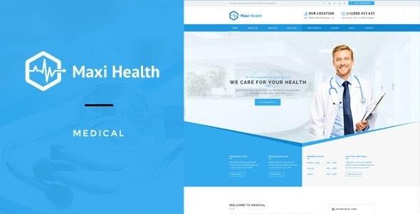 Maxi Health : Responsive Medical Joomla Template - Business Corporate