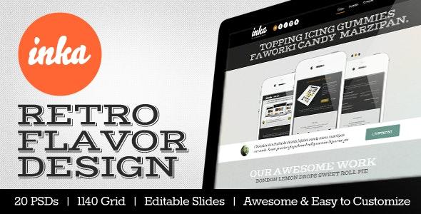 INKA - Retro Flavor Design Template - Creative Photoshop