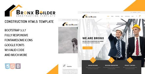Bronx - Construction Website Template - Business Corporate