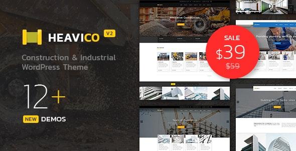 Heavico - Construction & Industrial WordPress Theme - Business Corporate