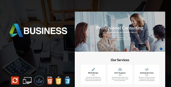 Business Consulting - Multipurpose  Website Template - Corporate Site Templates