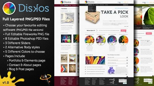 Diskos - Creative PSD Website Template - Creative Photoshop