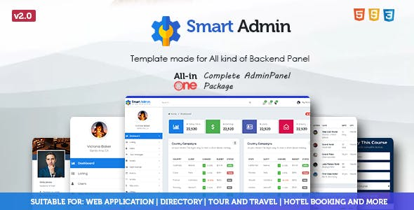 Hotel Admin HTML Website Templates from ThemeForest