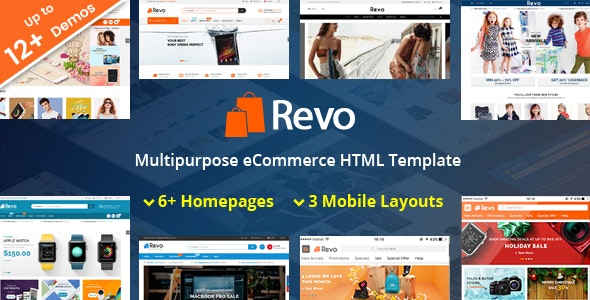 Revo - Responsive MultiPurpose HTML 5 Template (Mobile Layouts Included) - Retail Site Templates