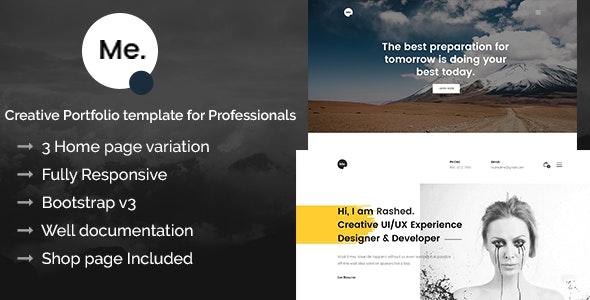 Me - Creative Portfolio Template for Professionals - Portfolio Creative