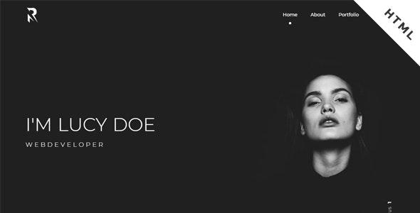 Rokstar - One Page Portfolio - Portfolio Creative