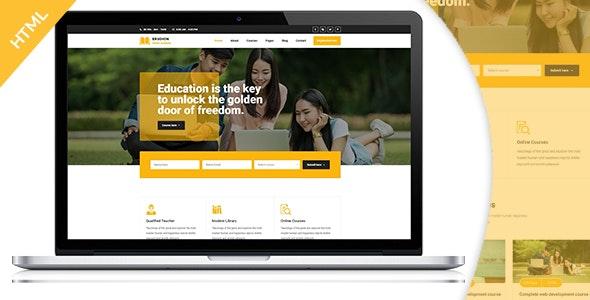 Erudition Education HTML5 Template - Nonprofit Site Templates