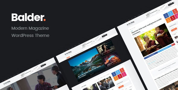 Balder - Modern Magazine WordPress Theme - Blog / Magazine WordPress