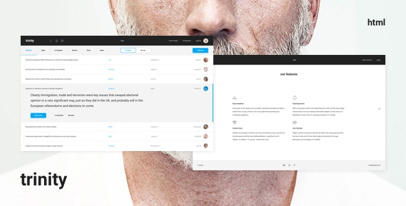 Trinity – Dashboard HTML Template - Admin Templates Site Templates