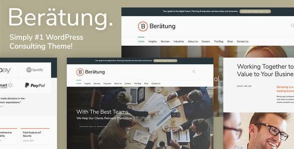 Beratung - Consulting WordPress Theme - Business Corporate