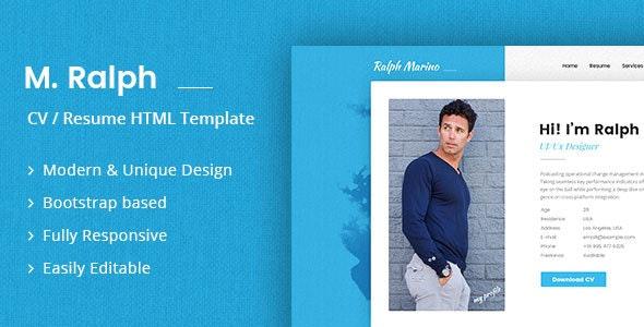RaMarino Personal Portfolio / CV / Resume Template - Resume / CV Specialty Pages