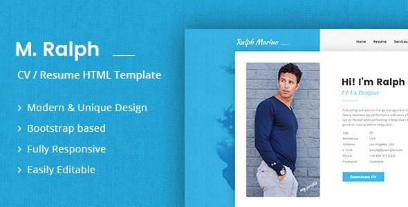 RaMarino Personal Portfolio / CV / Resume Template