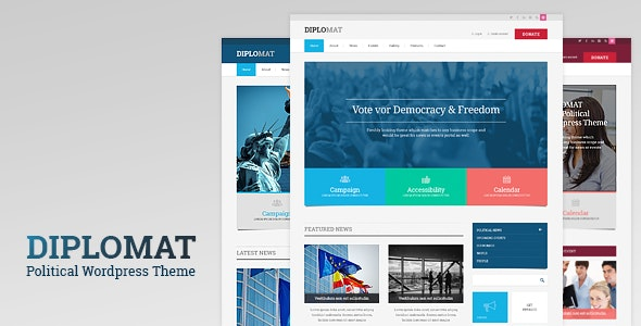 Diplomat | Political Campaign, Party, Blog Responsive WordPress Theme - Political Nonprofit