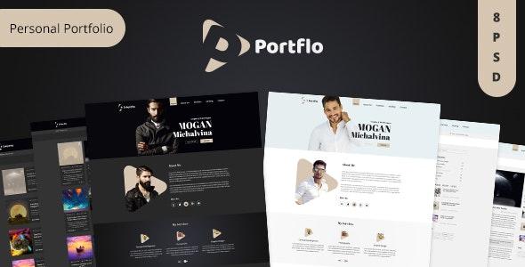 PORTFLO -  Personal Portfolio PSD Template - Portfolio Creative