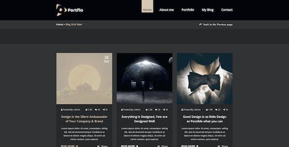 PORTFLO -  Personal Portfolio PSD Template