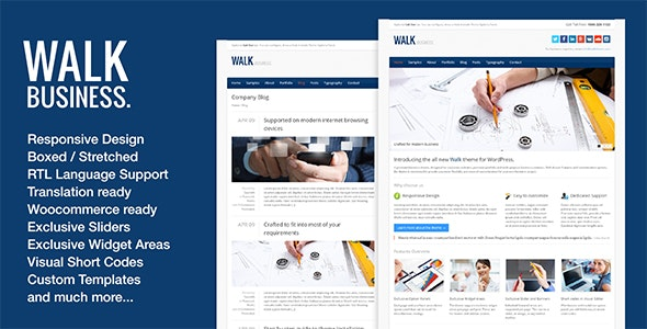 Walk - Responsive Business WordPress Theme - Business Corporate