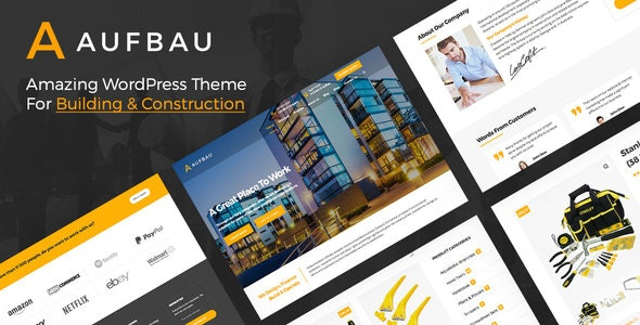 Aufbau - Construction WordPress Theme - Business Corporate