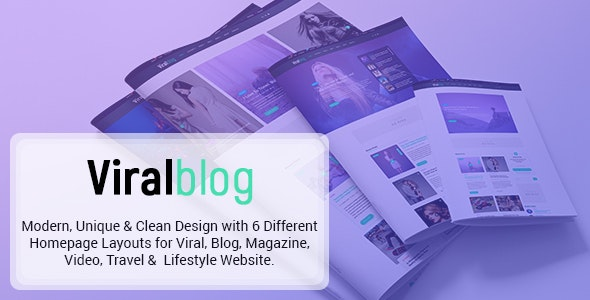 Viral Blog - Viral Magazine/News and Personal Blog PSD Design - Marketing Corporate