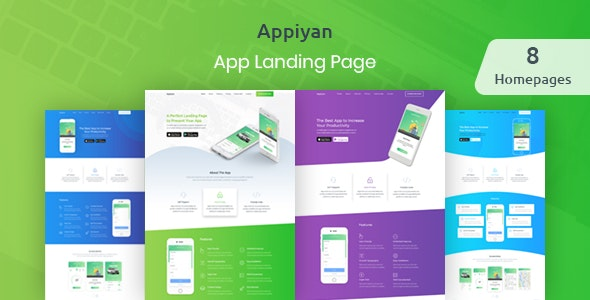Appiyan - App landing HTML 5 Template - Apps Technology