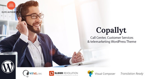 Copallyt : Call Center & Telemarketing WordPress Theme - Business Corporate