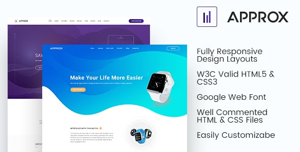 Approx HTML Responsive Template - Corporate Site Templates