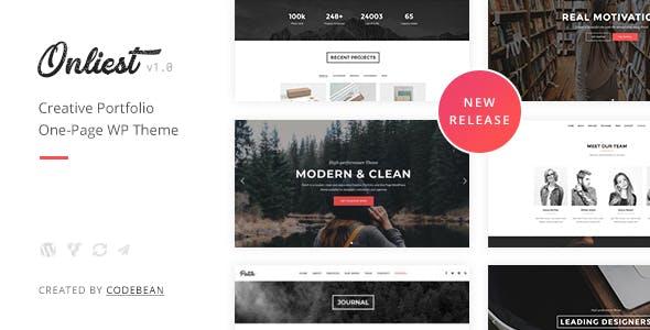 Onliest - Creative Portfolio One Page WP Theme